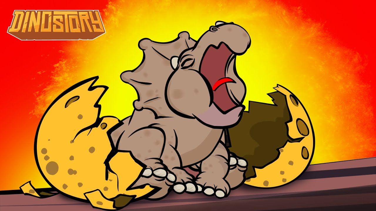 The Egg - Terri the Triceratops hatches - Dinosaur Songs from Dinostory by Howdytoons preview