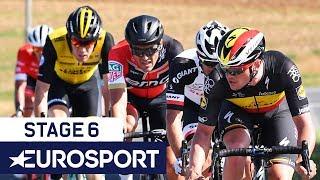 BinckBank Tour 2018 | Stage 6 Finish Highlights | Cycling | Eurosport