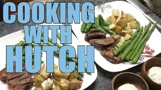 cooking with hutch seared steaks and spiced potato