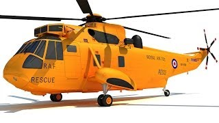 Westland Sea King Helicopter 3D Model