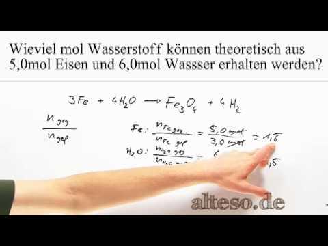 Gut gemocht Stöchiometrie - Aufgabe - Eisen und Wasser - YouTube RO68