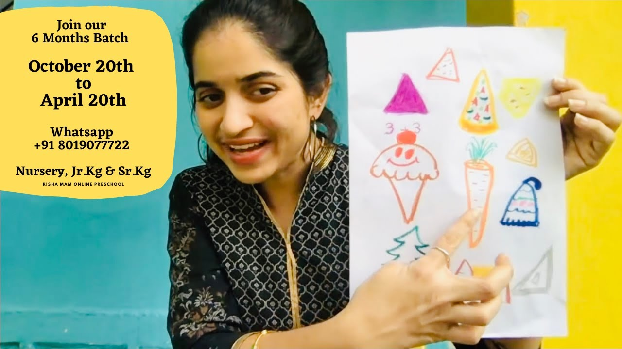 Whatsapp +91 8019077722 to Join our Online 6 Months Course for Nursery, Jr.Kg & Sr.Kg today