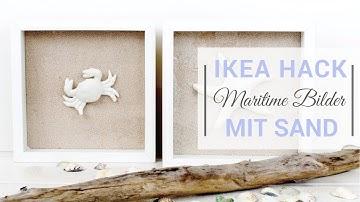 Ikea-Hack: Ribba Bilderrahmen | #1 | Maritime Bilder mit Sand