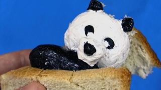 Как сделать панду из хлеба!