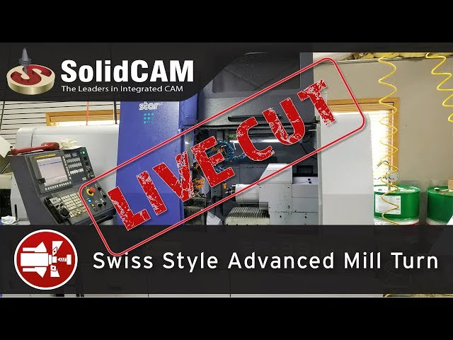 Live Cut on a Star Swiss using SolidCAM