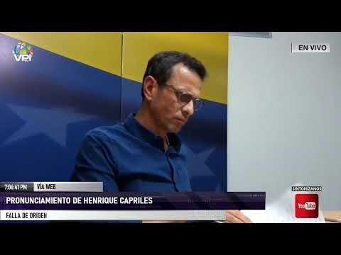 Henrique Capriles presenta su alternativa