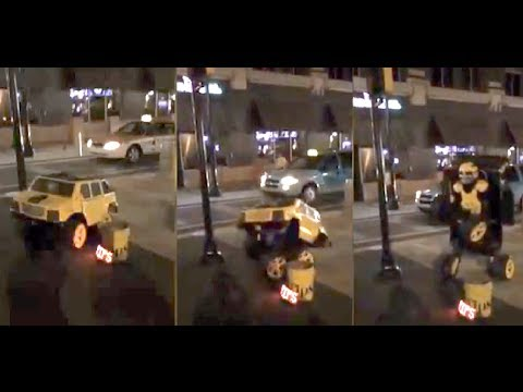 Real Life Transformer Shocks Pedestrians By Actually Transforming