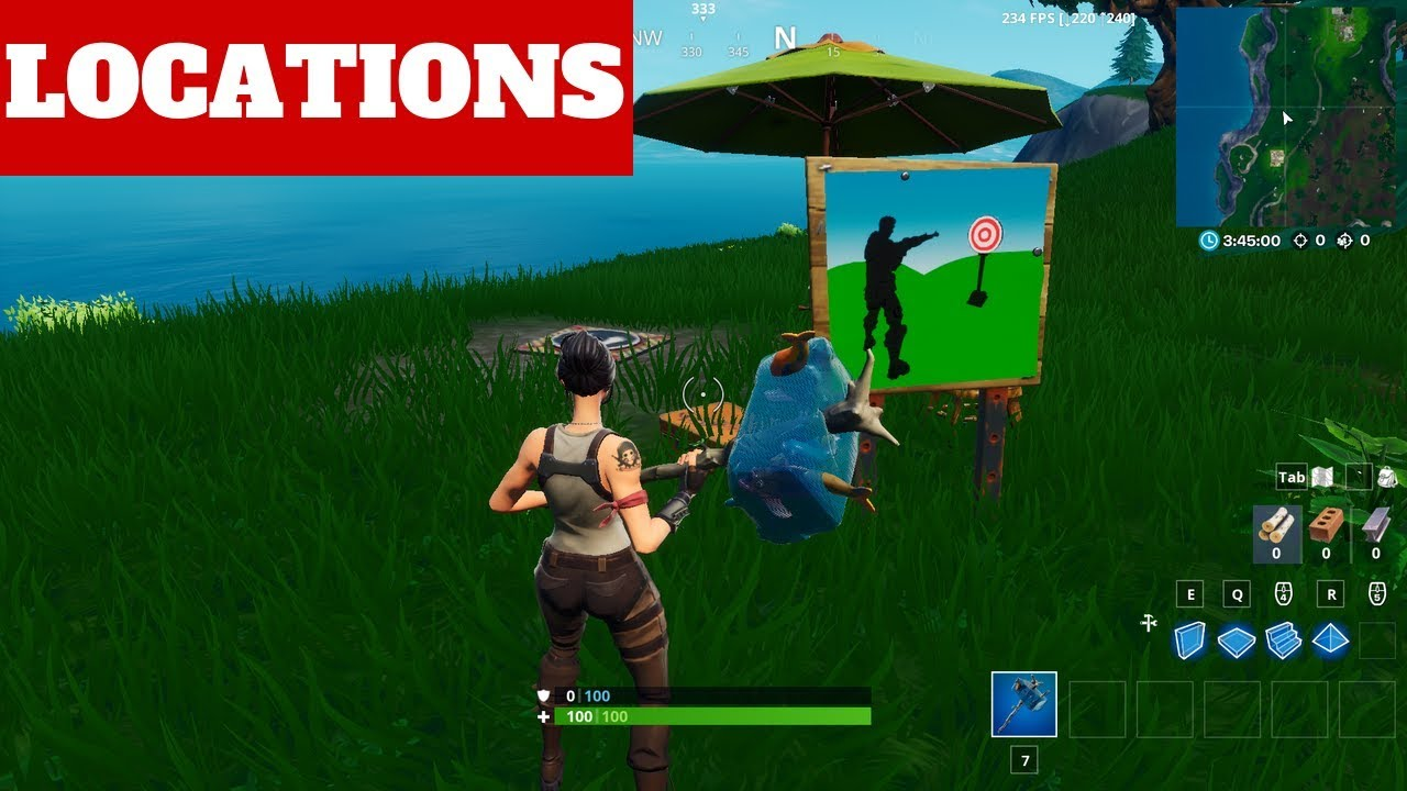 Hit Easy Firing Range Target Locations Bulleye Challenges Location Fortnite Season 10