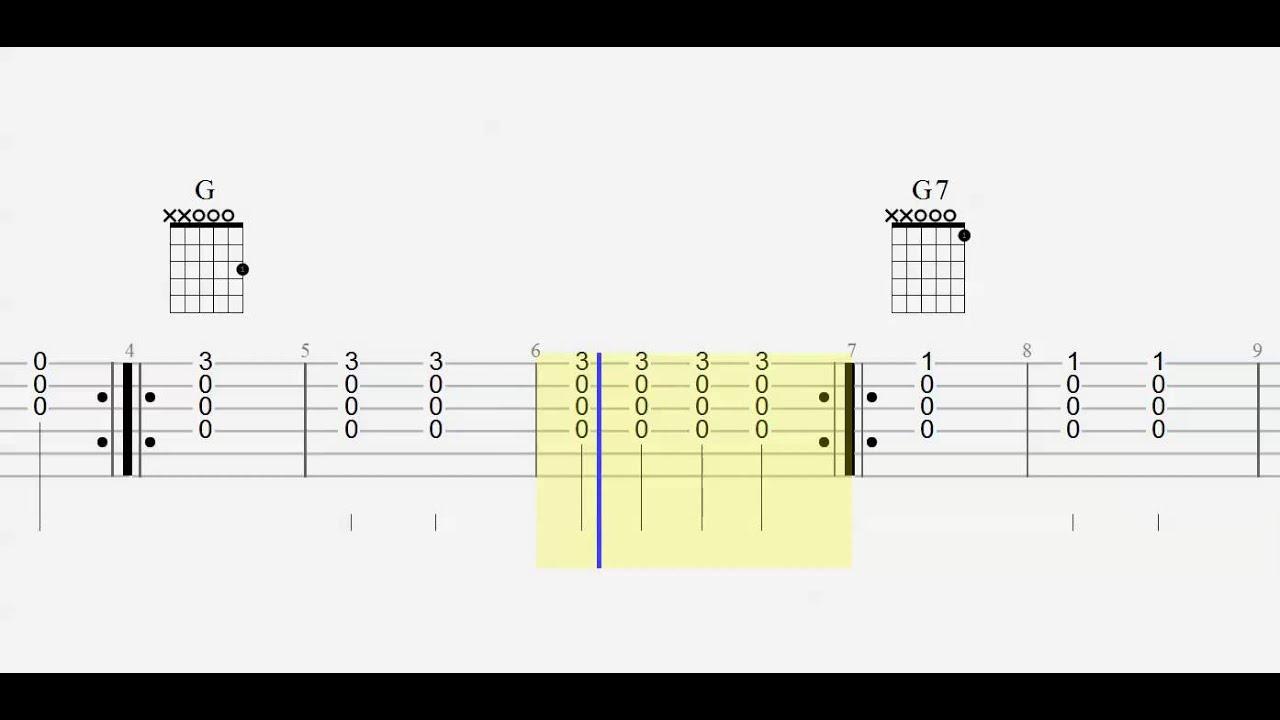 Guitar Chord Practice Ez 1 Finger Chords Play Along Em G G7