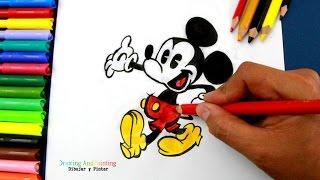 Drawing MICKEY MOUSE (Cartoons Disney Shorts) | Cómo dibujar y colorear a Mickey Mouse