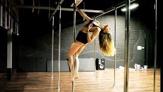 Pole Dance dla początkujących - układ choreograficzny z prostymi figurami.