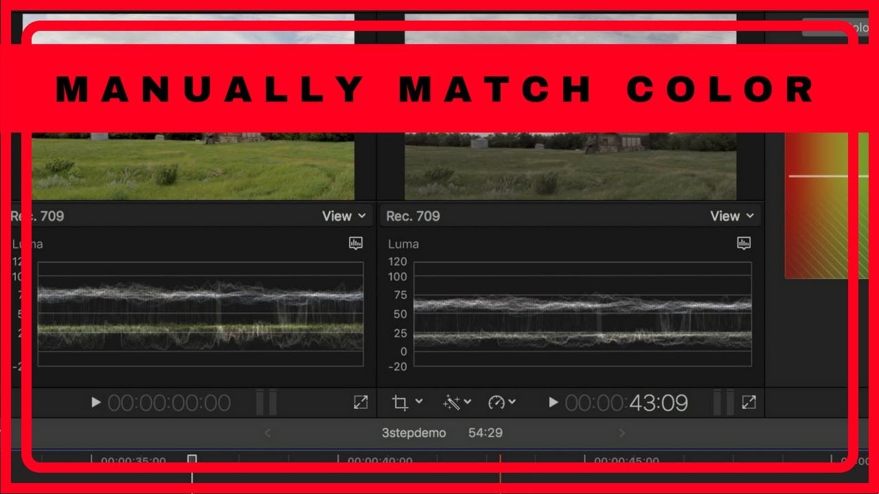 how to match photo colour in final cut