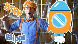 Blippi Builds A Rocketship | Learn Space and Planets | Educational Videos For Kids