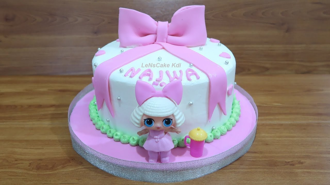 Lol Surprise Toy How To Make Birthday Cake Lol Surprise Doll How To Cake Decorating Tart