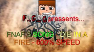 FNAF 3 - DIE IN A FIRE - 600% SPEED