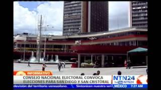Consejo Nacional de Venezuela aprobó fechas postulación para elecciones de alcaldía