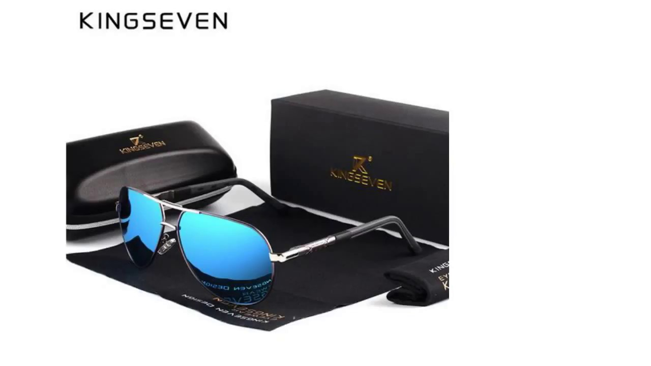 039b7e7708 KINGSEVEN Men Vintage Aluminum HD Polarized Sunglasses Classic - YouTube