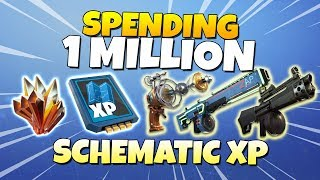 Spending 1 MILLION Schematic XP! LVL 130 ZAP ZAPP | Fortnite Save The World