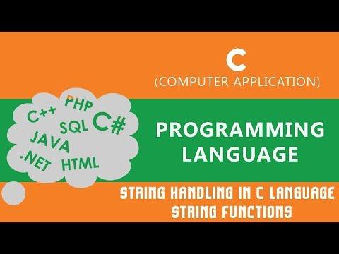 String Handling in C language | String Functions