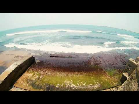 Timelapsed Ocean in the heart of Colombo, Sri Lanka.