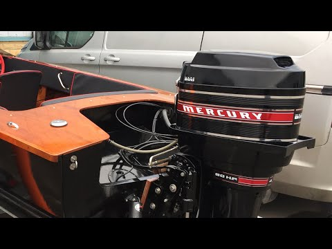 1970 Mercury 80hp Outboard Engine | First run with the new Kevlar Fuel Tanks in the Tremlett