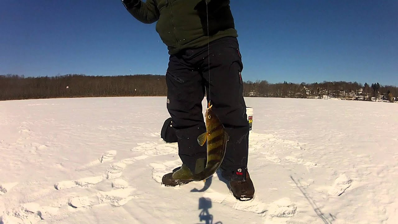 Ice fishing orange county 39 s round lake monroe ny 1 29 2014 for Ice fishing ny