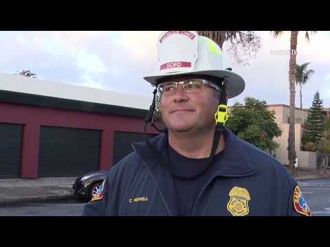 San Diego: Fire Damages House 11232018
