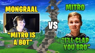 Secret Mongraal vs Atlantis Mitr0 | Creative 1v1 *GOD TIER BUILD FIGHTS*
