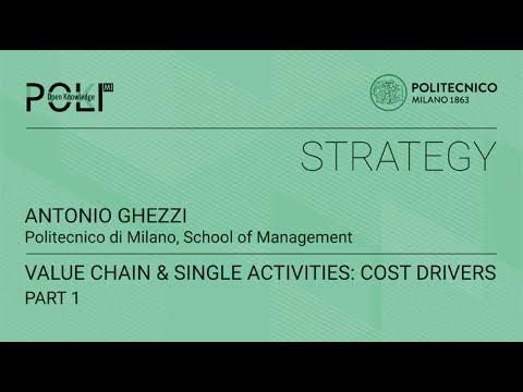 Value chain & single activities: cost drivers - part 1 (Antonio Ghezzi)