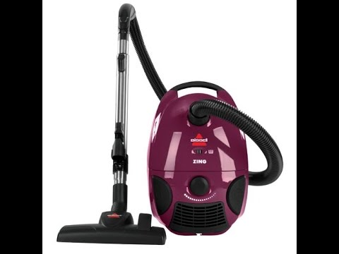 Review Bissell Zing Bagged Canister Vacuum Purple 4122