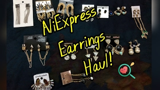 AliExpress Jewelry Haul | Part 1| Earrings collection | Bling bag  2016 2017 | giveaway open