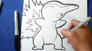 "Cómo dibujar a Cyndaquil ""Pokémon"" | How to draw Cyndaquil"