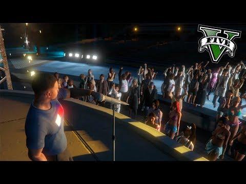 GTA V VIDA REAL MODS #7 - EL CONCIERTO MAS FAMOSO E IMPORTANTE DE MI CARRERA - ElChurches
