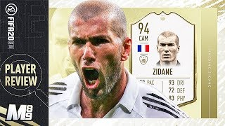 FIFA 20 ZIDANE REVIEW | 94 ZIDANE PLAYER REVIEW | FIFA 20 Ultimate Team