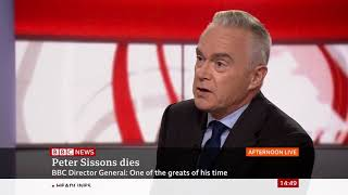 Peter Sisson Dies - Huw Edwards pays tribute