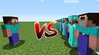 Minecraft Battle: NOOB vs PRO: HEROBRINE VS 10000 NOOB AND PRO CHALLENGE / Animation