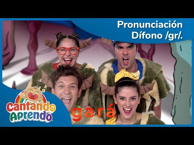 Pronunciación para niños | Dífono /gr/ | El Ogro Gris y Grande - Cantando Aprendo