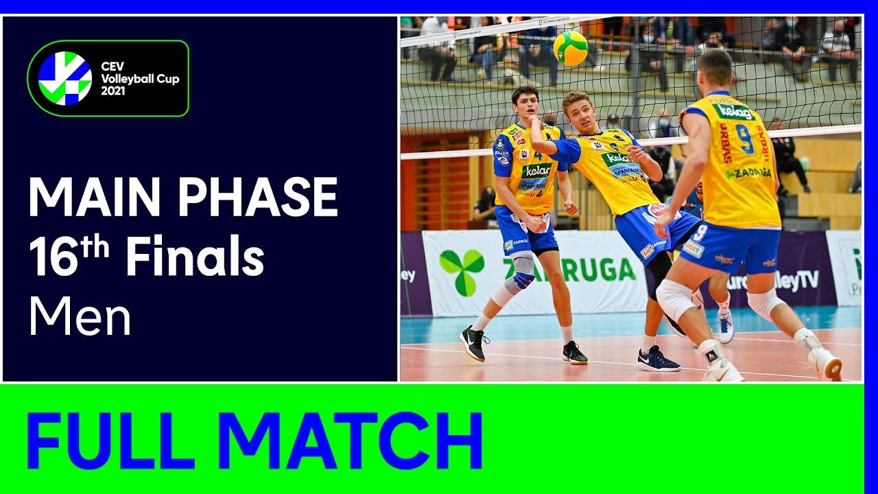 SK Zadruga AICH/DOB vs. VK Dukla LIBEREC - CEV Volleyball Cup 2021 Men 16th Finals