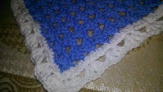Вязание крючком: исправляем ширину пледа