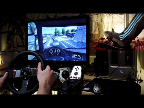 Euro Truck Simulator 2 with G27 steering wheel and feet/clutch camera fully manual HD 1080p