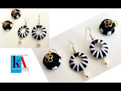 Simple and easy silk thread earrings || making of chandbali earrings step by step at home