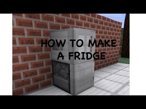 how do you make a fridge in minecraft