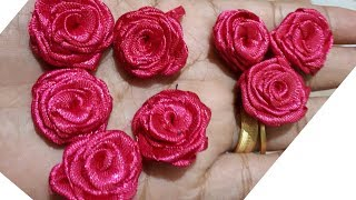How can make satin ribbon rose in 1minute without glue. (MALUS TAIL...