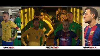 PES 2018 vs PES 2017 vs PES 2016 Gameplay Comparison