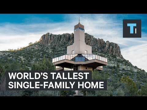 The world's tallest single-family home is up for sale — take a look inside