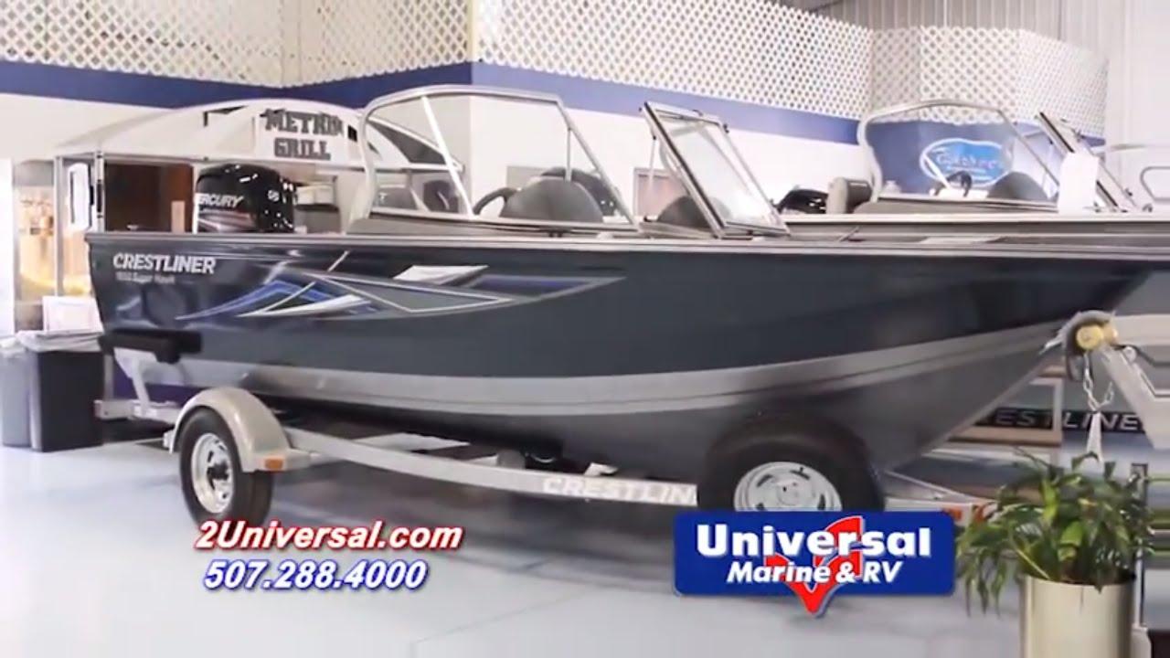 2016 crestliner 1650 superhawk wt fishing boat for sale for Fishing boats for sale mn