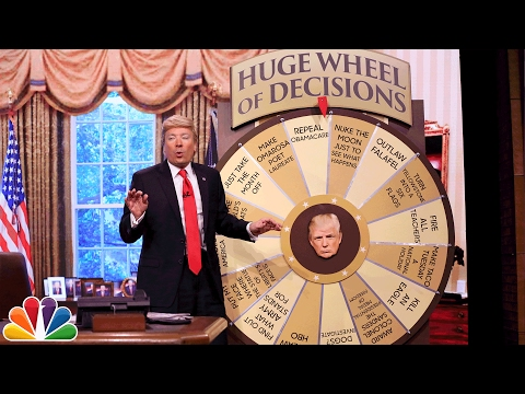 Thumbnail: Trump Unveils Huge Wheel of Decisions