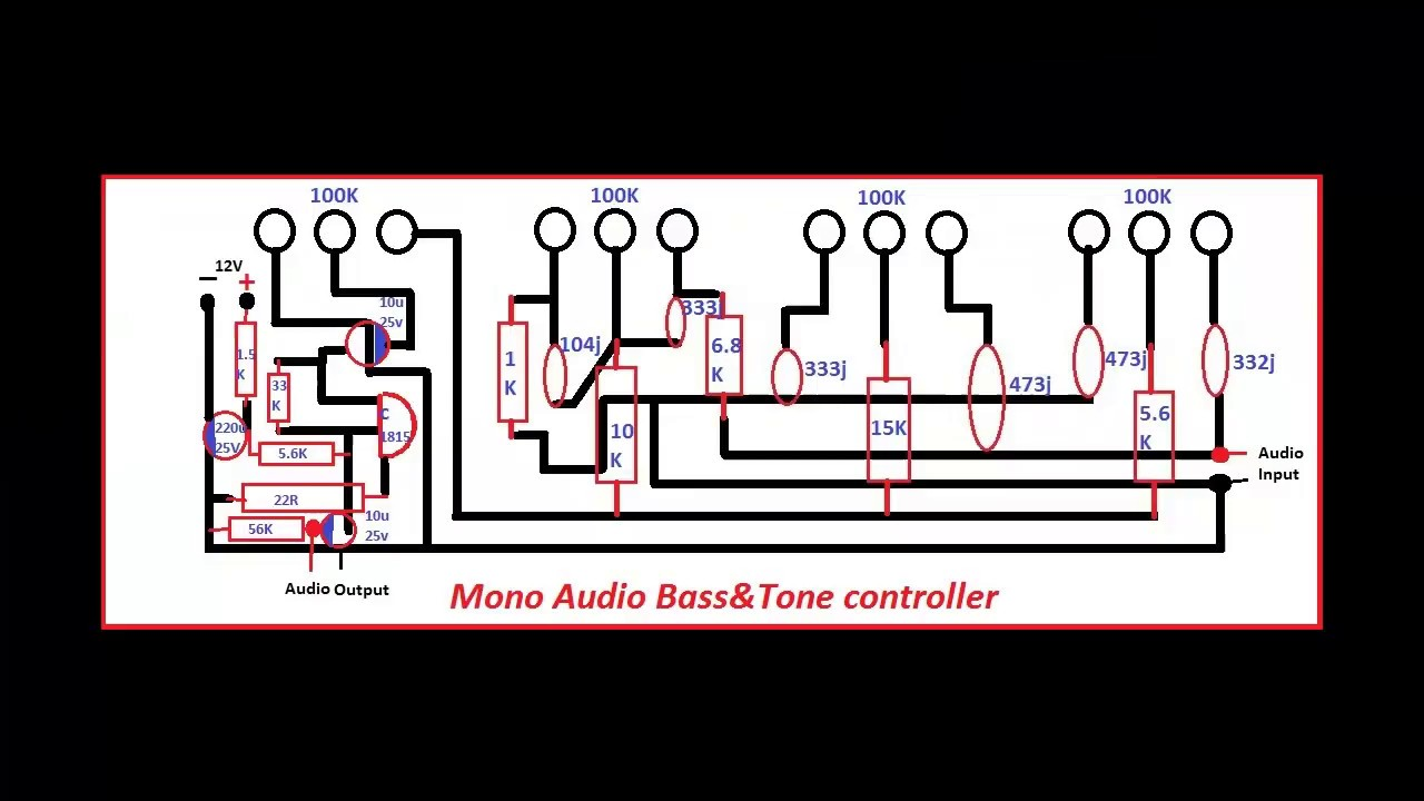 How To Make Bass Tone Controller For Audio Amplifier  Bass Tone Controll  Electronics