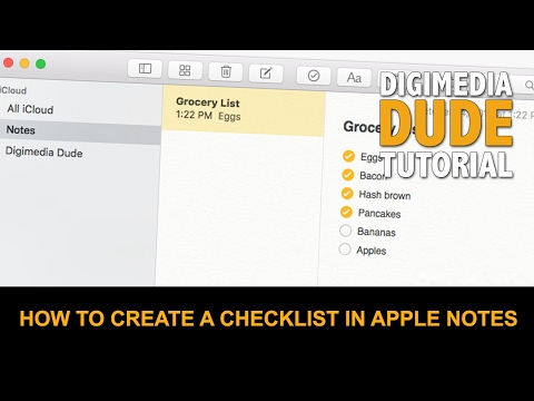 How To Create A Checklist In Apple Notes
