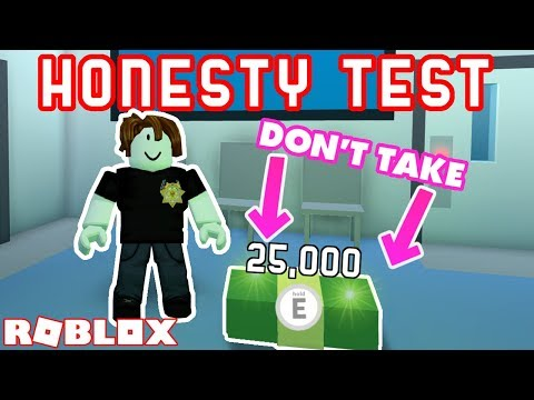 DON'T TAKE THE MONEY! - Roblox Jailbreak Honesty Test